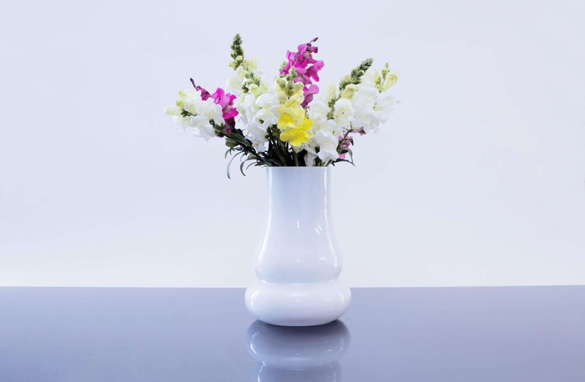 Milky White Glass Vase