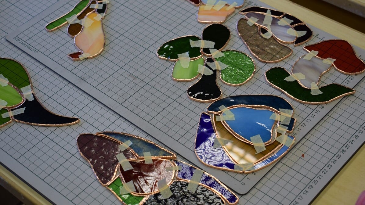 Unfinished Stained glass pieces