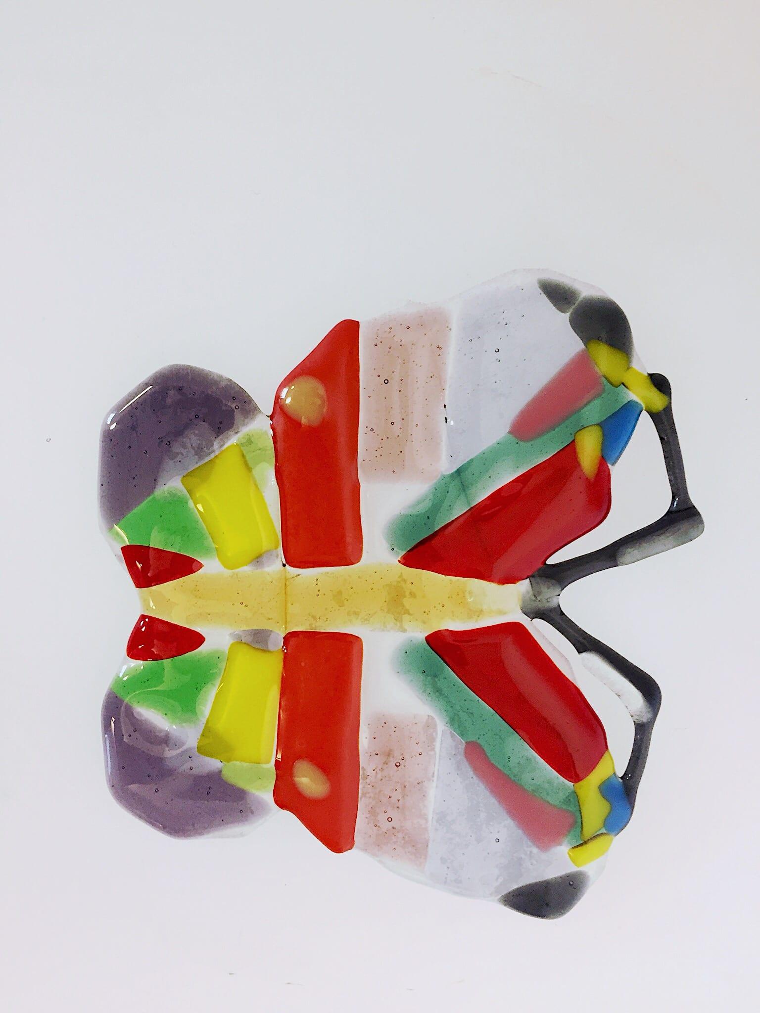 Handmade flower seasonal glass decoration