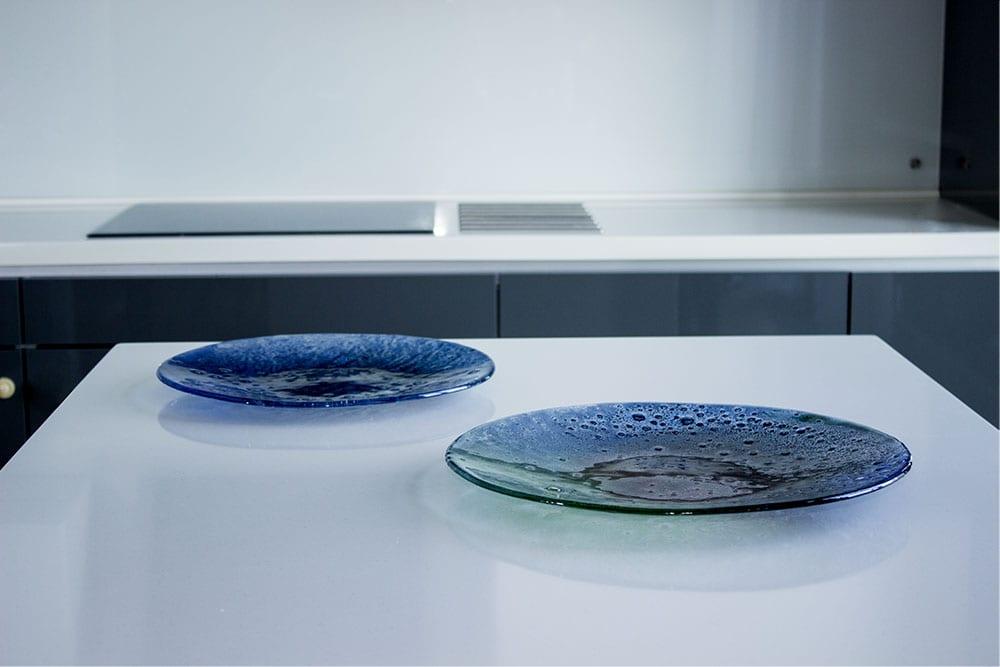 custom glass dinnerware