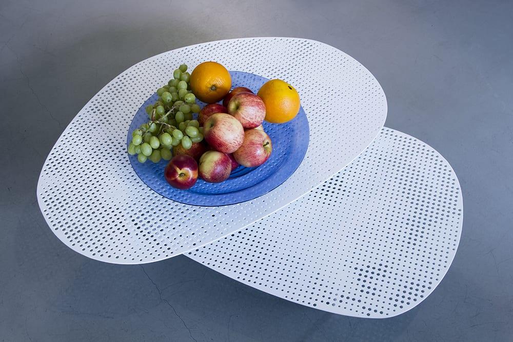 Blue Custom glass dinnerware