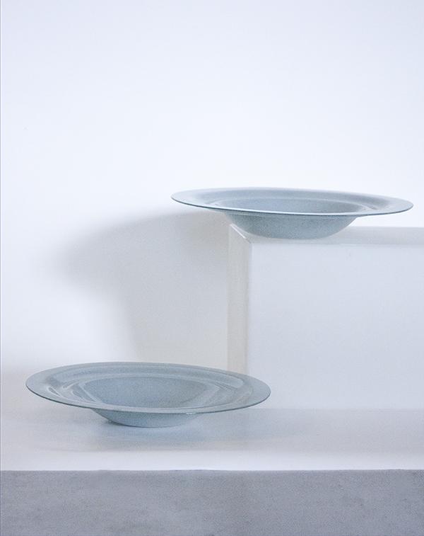 White Grey Plates