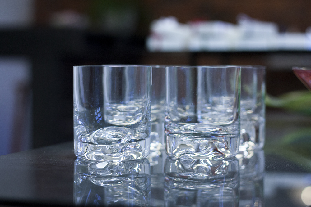 set of whiskey glasses made to order