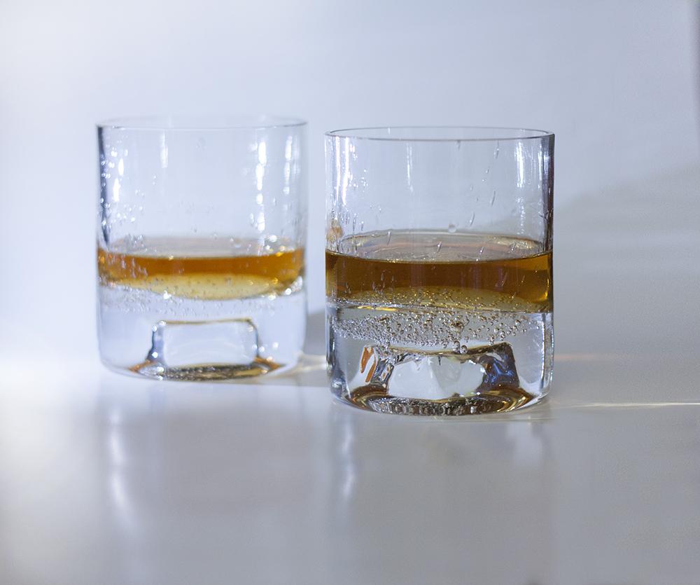 whiskey glass blown handmade