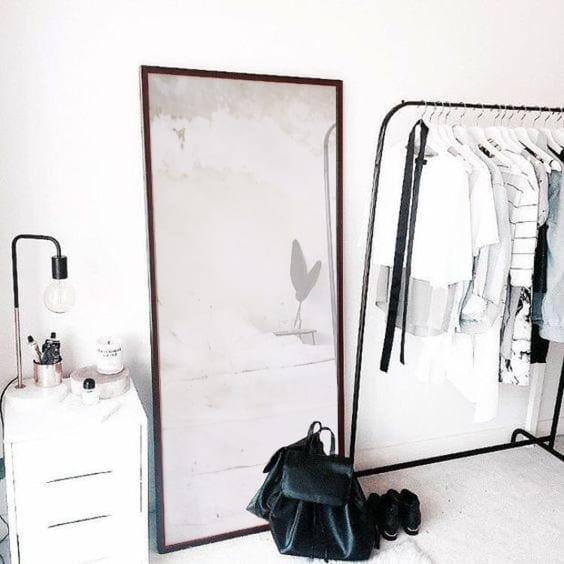 Large standing vintage mirror