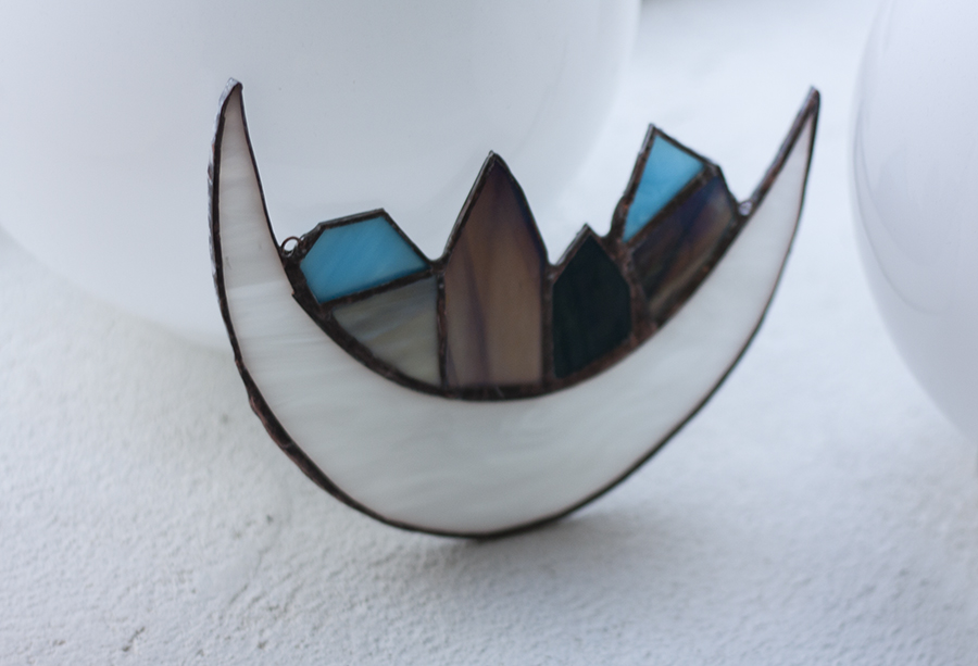 Handmade stained Glass Piece with the Tiffany Technique. Workshop at Glass Point