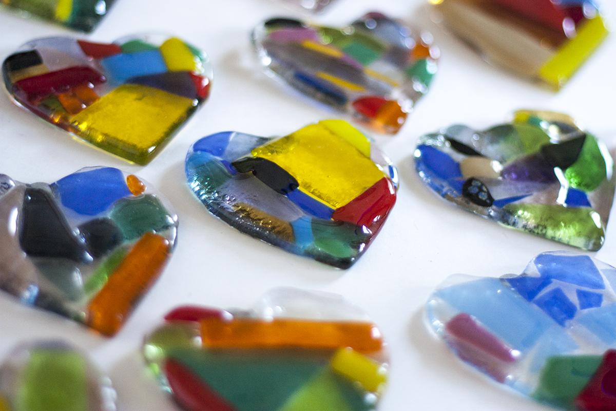 Heart glass decoration workshop. Glass Point