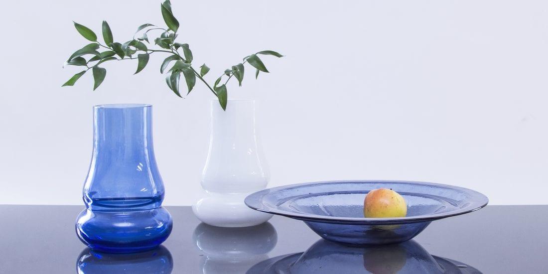 """Коллекция """"Движение"""". Ручная работа. Минималистический и элегантный дизайн. Тарелка для фруктоф и ваза. Плавленое стекло. Glass Point"""