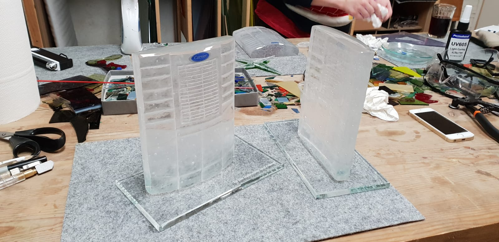 Awards and Trophies from Glass. Carrier glass award. Glass Point
