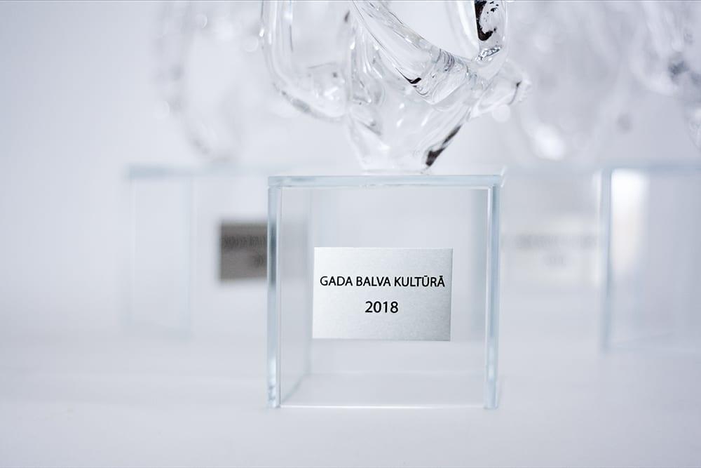 Награды и кубки из стекла. Gada balva kultūrā. Glass Point