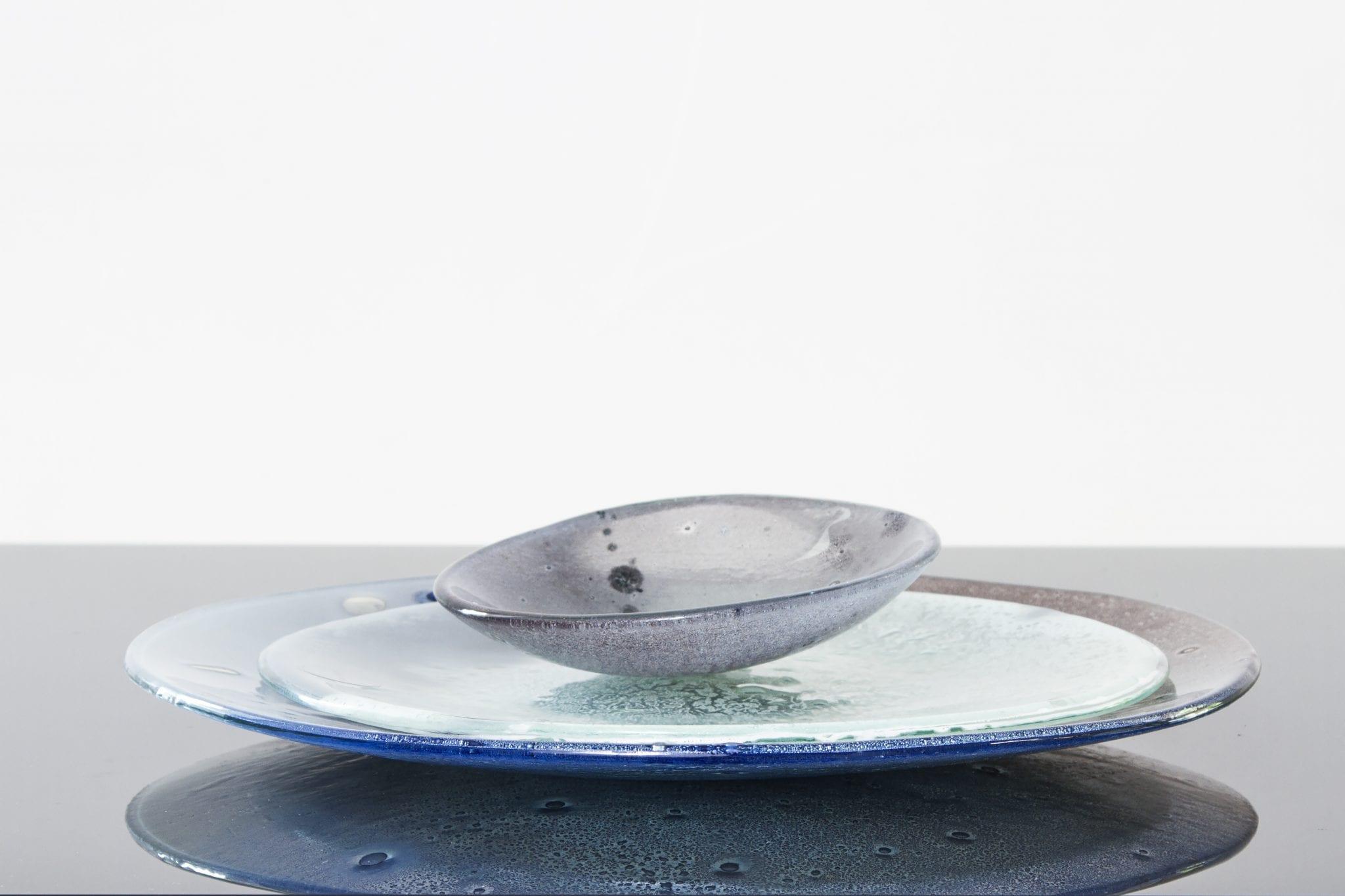 """Коллекция """"Всплеск цветов"""". Набор стеклянной посуды. Выберите индивидуальную форму, размер и цвет. Ручная работа. Glass Point"""