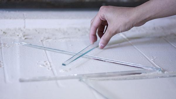 """Производственный процесс. Коллекция """"Azure"""". Уникальная фруктовая стеклянная тарелка из переработанного стекла. Ручная работa. Glass point"""