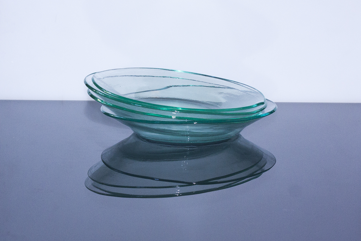 """Elegant handmade eco-friendly and recycled, zero waste, glass tableware from the """"Basic"""" collection. Glass Point"""