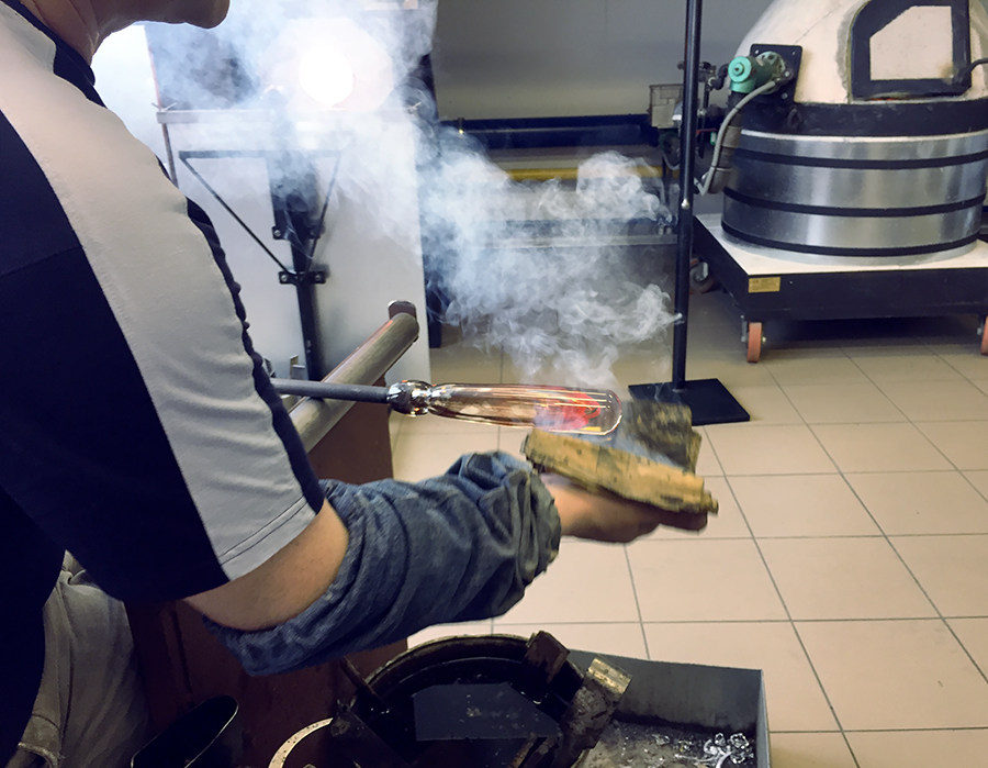 Process of making Unique Handmade Corporate Glass Gifts and Souvenirs. glass-blowing. Glass Point