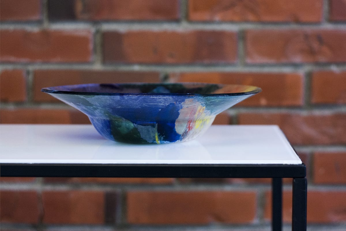 Colorful Glass Fruit Bowl. Glass Painting Workshop. Glass Point