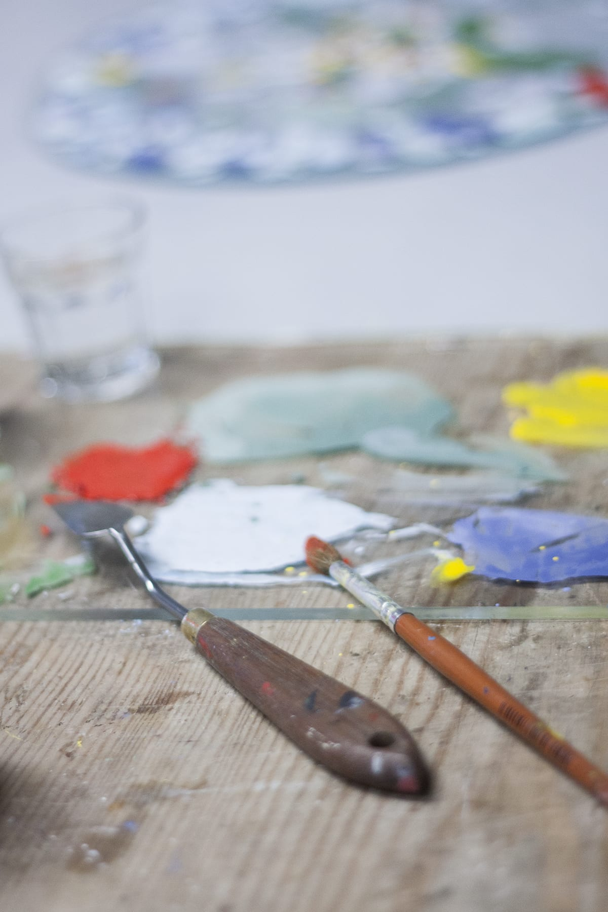 Process of Painting on glass bowl. Glass Painting Workshop, Glass Point