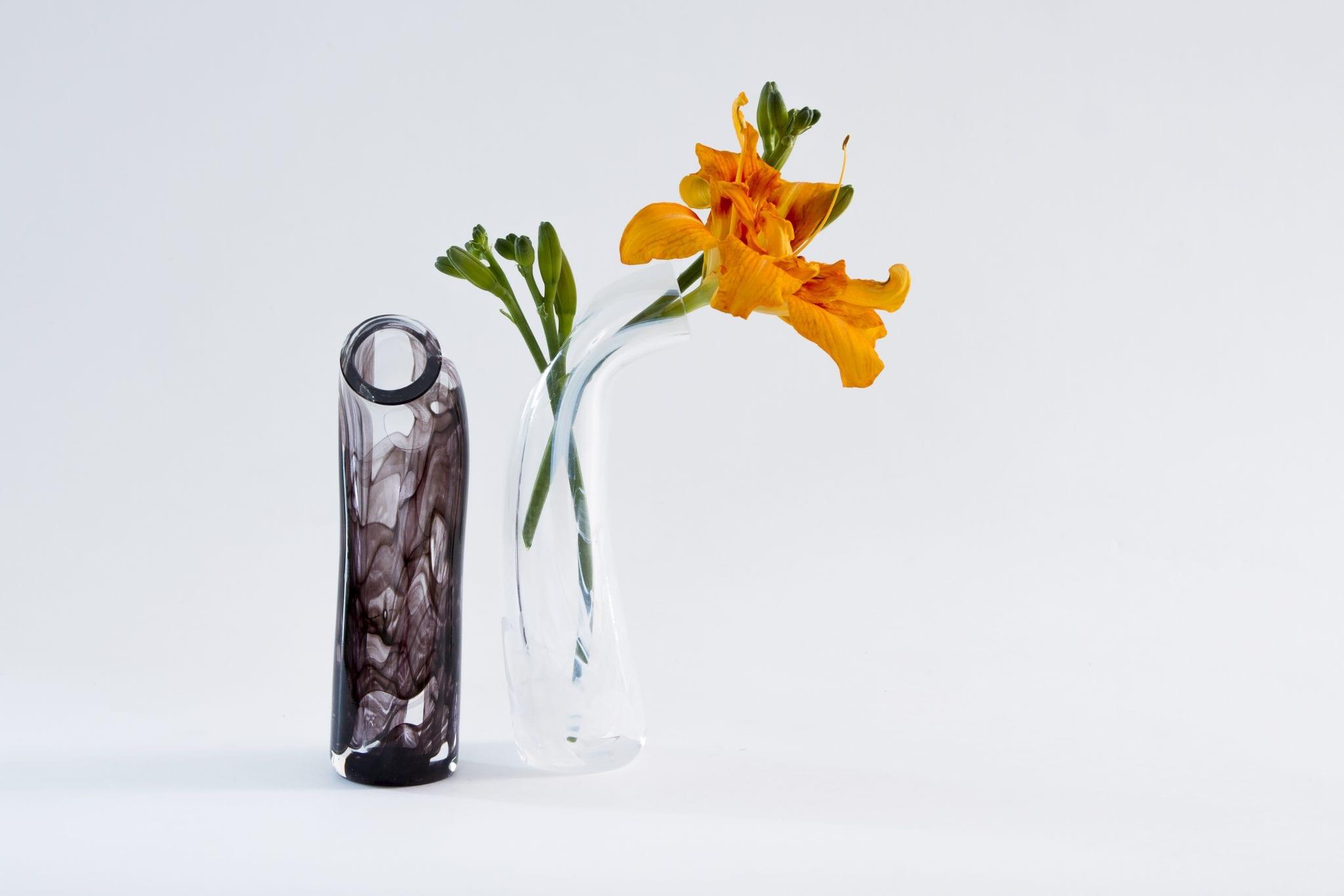 Нестандартные изделия из стекла. Ваза с цветами. Glass Point
