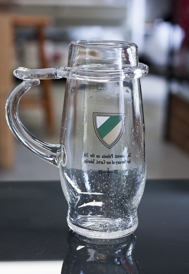 Custom handmade Glass Items. Unique glass beer cup, rummer. Glass Point