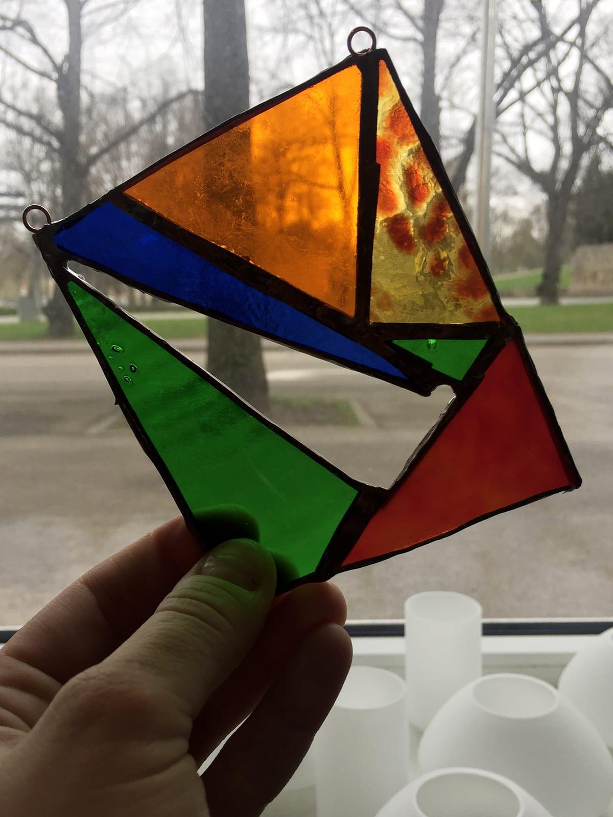 Pašdarināts stikla dekors Tiffany tehnikā. Glass Point