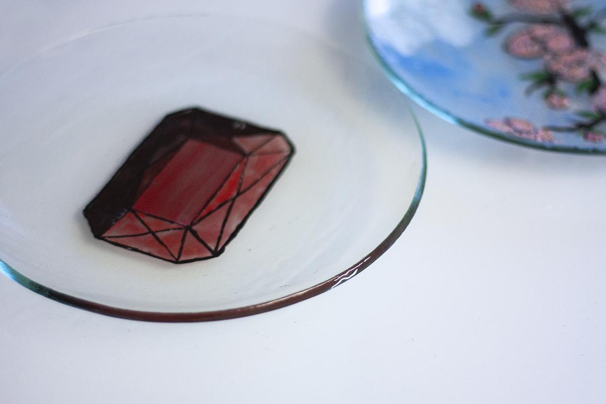 Pašdarinātu Stikla trauku apgleznošanas meistarklase. Glass Point